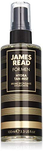 James read spray idratante viso per uomo 100ml leggero / medio spray idratante dopobarba, autoabbronzante, asciugatura rapida, adatto a tutte le carnagioni, il colore dura fino a 5 giorni