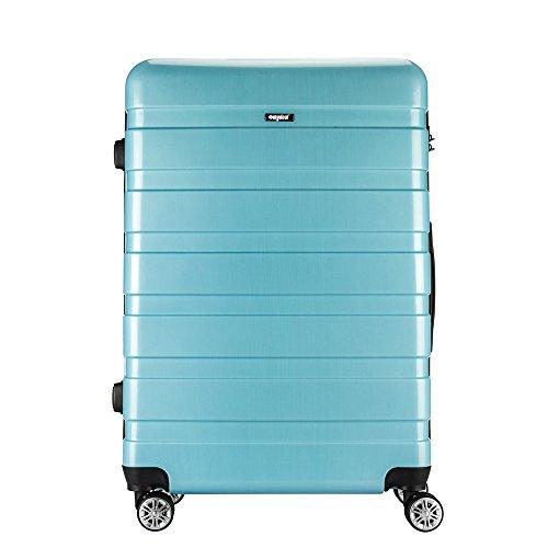 AMASAVA Valigia Trolley Bagaglio Grande Valigie Trolley Rigida in ABS+PC 4 Ruote leggera 48cm 90 Litri 28'New TSA per Donna e Uomo Blu