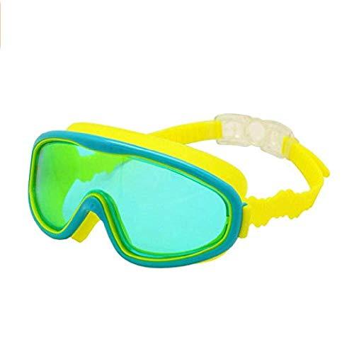 fyhtydsr Kinder Schwimmbrille Kinder Weitsicht Anti-Fog Anti-UV Schnorchel Tauchmaske