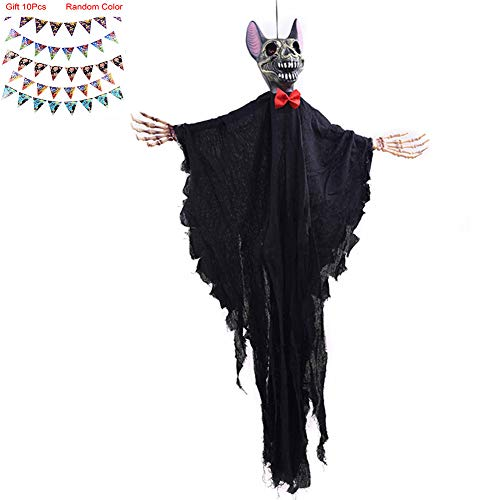 st-Dekorationen für Halloween, Spukhaus, Horror-Themenparty, Karneval,Black ()