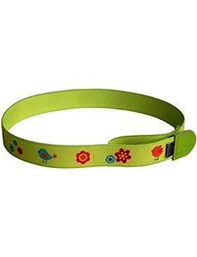 Cinturón Ed&Kids para niños | Pájaros y flores, lima | sin hebilla | manejo sencillo | hecho en Alemania