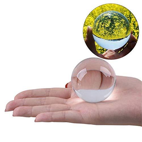 Kristallkugel Fotografie Prop Meditation Ball Kontakt Jonglierglas Kugel Display Weihnachtsgeschenk (Transparent Weiß)