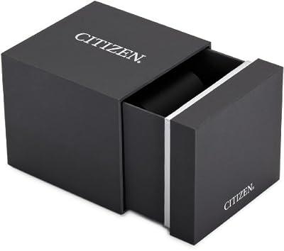 Citizen BM8241-01EE - Reloj analógico de cuarzo para hombre, correa de cuero color negro (solar) de Citizen