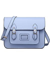 Miss Lulu, Cartable pour Femme Bleu clair Bleu clair
