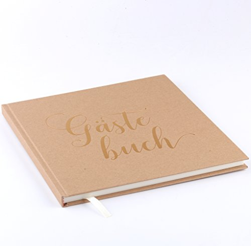 Plantvibes Edles Gästebuch | 72 Seiten, Hardcover, hochwertiges Papier | Vintage Guest-Book für die Hochzeit, Taufe oder den Geburtstag | Hochzeitsbuch | Hochzeits-Album | Hochzeits-Gästebuch