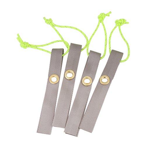 Corde en Nylon Réfléchissante Fixation de Support de Coin pour Tente Lot de 4pcs Vert