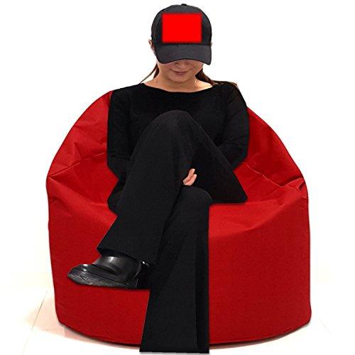 Sitzsack Sitzbag Größe S-M-L-XL-XXL-XXXL mit Styropor Füllung - In & Outdoor - verschiedene Farben & Größen - Bean Bag Sitzkissen Bodenkissen Hocker Kinder Sitzsäcke Möbel Kissen Sessel Sofa (XXXL - ca.88cm, Rot)