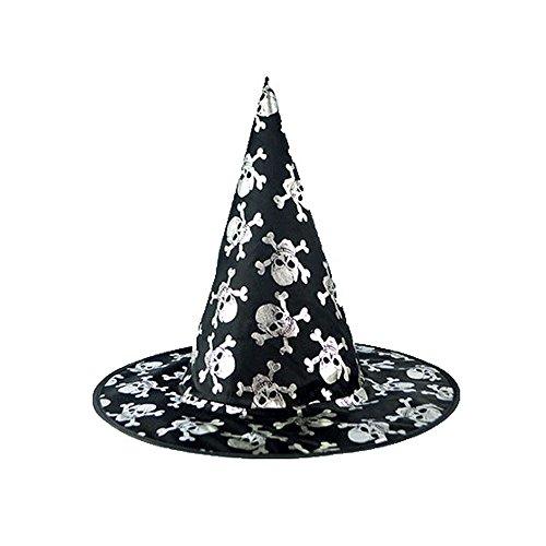 Kostüm Boo Beanie - GOKOMO Der Schwarze Hexenhut der Erwachsenen Frauen für Halloween-Kostüm-Zusatz-Kappe C