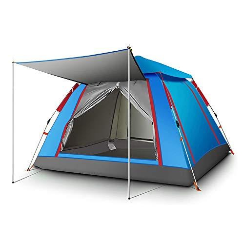 ZA Strand Cabana Instant-Zelt für Family Outdoor Strand Camping, tragbares Schnell-up 3-4 Person Strand-Zelt, große Sonnen Shelter mit Baldachin, Breathable Zelt, 3 Farben (Farbe : Blau)