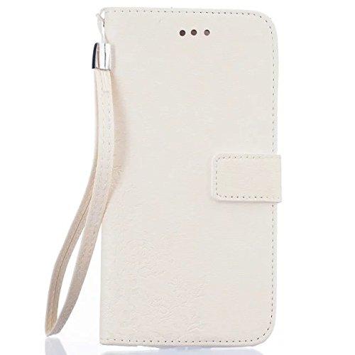 Wkae Case Cover couvrir standup cas de couverture pour iPhone 6 6S peint motif coloré cas de style portefeuille conception magnétique rabat folio en cuir PU, plus ( Color : Green , Size : IPhone 6S Pl White