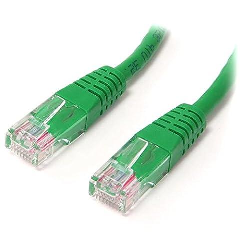 StarTech. com 0,3m Cat5e Noir moulé RJ45UTP Cat 5e Patch Cable–0,3m Patch Cord SPIG9 3 ft Green