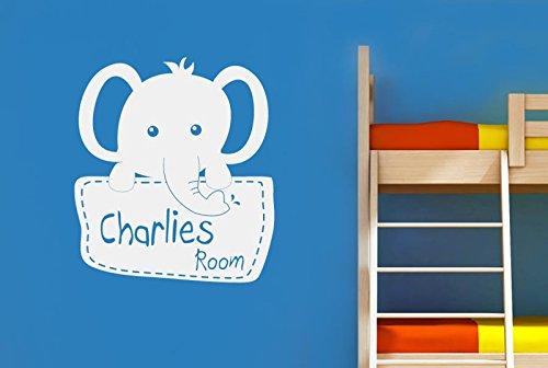 personalizado Elefante Niños Habitación Vinilo Pegatinas De Pared Decorativo