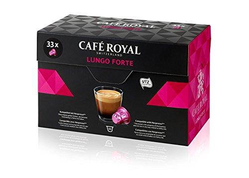 Café Royal Lungo Forte 33 Kapseln, 33 kompatible Kapseln für Nespresso, 1er Pack (1 x 33 Kapseln)