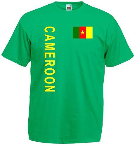 world-of-shirt Herren T-Shirt Kamerun/Cameroon Lions Trikot Look 7-
