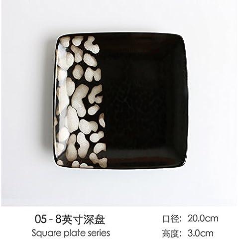 Creative dipinte a mano le piastre in ceramica giapponese home piastra vassoio colazione piatti di pasta nel vassoio del disco Western Steak Unità Disco ,05 punti piatti di deep dish