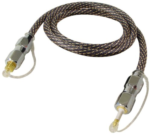 All4u BNAL 3 High End LWL-Kabel (3,5 mm Stecker - Toslink-Stecker) 5 m schwarz