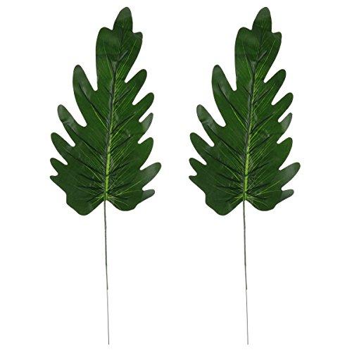 Amosfun 2 stücke Künstliche gefälschte stiele blätter für Zuhause Hochzeit Hawaiian Luau Party Dekorationen Handwerk Ornamente (Phoenix Fern Blätter)