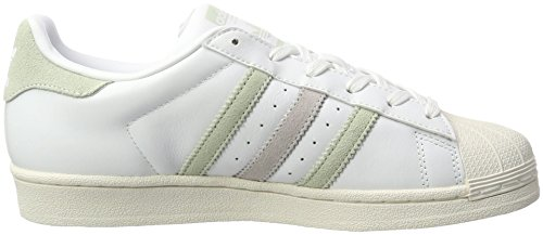 adidas Damen Superstar W Sneaker Weiß (Ftwwht/Lingrn/Ice PUR)