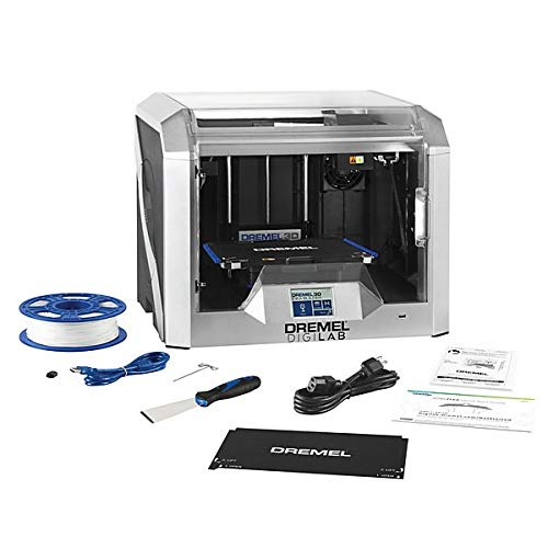 Dremel 3D40 FLEX - Impresora 3D Inalámbrica para Filamento PLA de 1.75 mm Resolución de 340-50 Micras Táctil a Color LCD, Volumen de Impresión de 254 x 152 x 170 mm, WIFI y Software de Corte