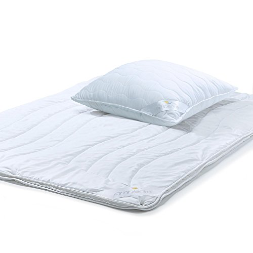 aqua-textil Ambiente, Bettdecken Set 4 Jahreszeiten 135 x 200 cm, Kopfkissen 80 x 80 cm Ganzjahres Decke, Betten-Set für Winter - Sommer, 2000197 (Bett-decken-set)