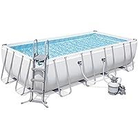 Bestway Power Steel Rectangular Pool Set 549x274x122cm  Stahlrahmenpool-Set mit Sandfilteranlage und Zubehör