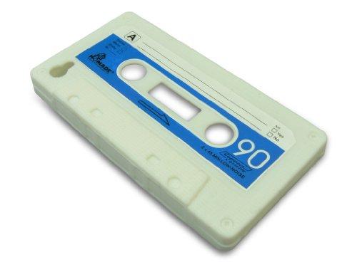 Sandberg-Retro Tape-Coque pour iPhone 4/4S blanc