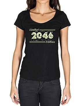2046 Limited Edition Star Mujer Camiseta Negro Regalo De Cumpleaños