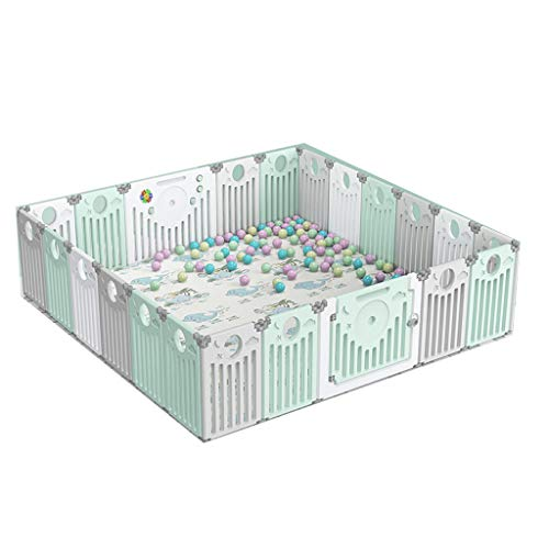 LIUFS-Playpens Fence Child Protection Foldable Home Game Activity Center With Crawling Mat (Size : 20+2 pieces)  LIUFS-Playpens