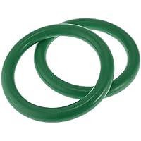 F Fityle Juego de 2 Anillos de Gimnasia Profesional Material ABS Ecológico para Múltiples Ejercicios Entrenamiento Muscular en Gimanasio - Verde