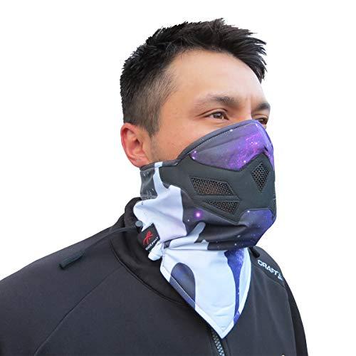 Grace Folly Half Face Gesichtsmaske für Kaltes Winterwetter. Diese Halbmaske ist für Snowboard, Ski, Motorrad geeignet. (in vielen Farben lieferbar) (Galaxis)