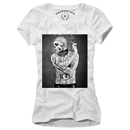 E1Syndicate Woman T-Shirt Wasted Youth Tattoo Art Boy Skull Gothic