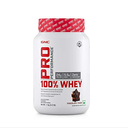 GNC Pro Performance 100% Whey Protein - 2.2 lbs, 1 kg (Chocolate Fudge)