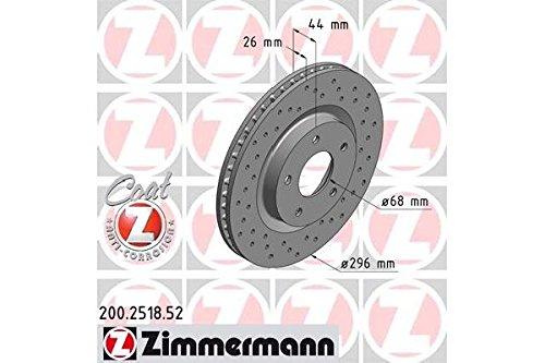 Preisvergleich Produktbild ZIMMERMANN 200.2518.52vorne Bremse,, perforiert, Sport Coat Z