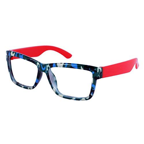 Purpura Erizo Mädchen Bunt Brillengestelle Tarnung Armee Druck,E/Rot
