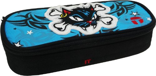 hlampermappe Pancelcase Black Cat- azurblau (Black Cat Customs)