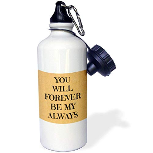 e mit Aufschrift You Will Forever Be My Always Black Letters On Gold Multicolor Yoga Isolierer, Edelstahl Cup Daughter, 535 ml ()