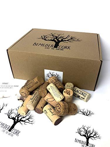 100 Korken Bastelkorken Weinkorken Flaschenkorken zum dekorieren und basteln Natur Naturkorken 24 mm x 45 mm dunkel Vintage/Gebraucht