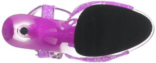 Pleaser DELIGHT-609UVG Damen Plateau High Heels Neon Lila