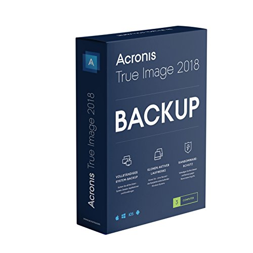 Acronis True Image 2018 - 3 Computer - Automatische Daten-backup-software