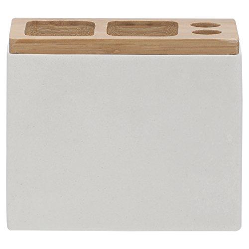 Moderner Zahnbürstenhalter (Sealskin 361910310 Zahnbürstenhalter Grace Polyresin Badaccessoire, Plastik, 6 x 12,3 x 10,2 cm, weiß)