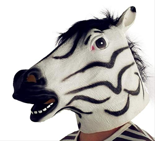 Wbdd Maske Gruseligpferd Einhorn Alpaka Taube Gummi Tier Maske Latex Party Panda Tier Maske Kinder Party Halloween Maskerade Lustige Maske Zebra (X-men Tier Kostüm)