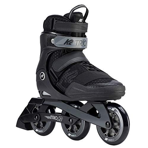 K2 Herren Inline Skates TRIO 110 M - Schwarz-Grau - EU: 43.5 (US: 10 - UK: 9) - 30D0170.1.1.100