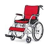 XXHDYR Fauteuil Roulant Pliant Portable en Alliage d'aluminium de Chariot de Voyage Ultra léger Silla de ruedas (Color : A)