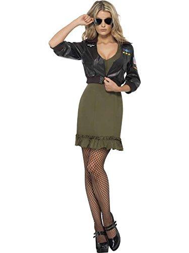 Kleid Sexy Top Gun mit Jacke Größe -