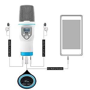 Tonor Microfono Professionale a condensatore Multi-Funziono per Skype PC Mac Laptop Computer Recording Cantare Nero