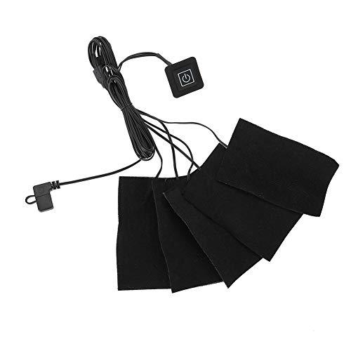 SunshineFace Calentador de Tela eléctrico USB Ropa Cinco Almohadillas calefactoras Elemento Calefactor...