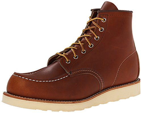Red Wing Shoes - Zapatos de cordones de Piel Lisa para hombre Marrón oro russet, color Marrón, talla 115 (42)