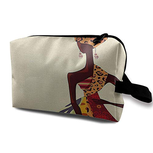 Bamboo Stems with Leaves Portable Travel Makeup Cosmetic Bags Organizer Multifunction Case Toiletry Bags