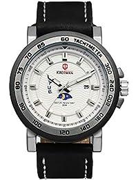 Avaner Reloj de Pulsera Cuarzo Japonés para Hombre Grande Reloj Deportivo con Indicador de la Noche