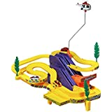Crazy Toys Track Racer Racing Car Set, With Helicopter Battery Operated Musical Kids Game Multi Color